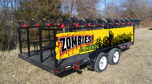Zombie Attack Vehicle at Zombies of the Corn Three Rivers Paintball