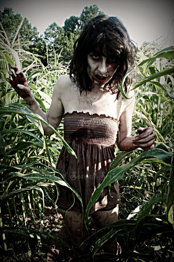 Zombie girl at Zombies of the Corn Pittsburgh PA Steeltown